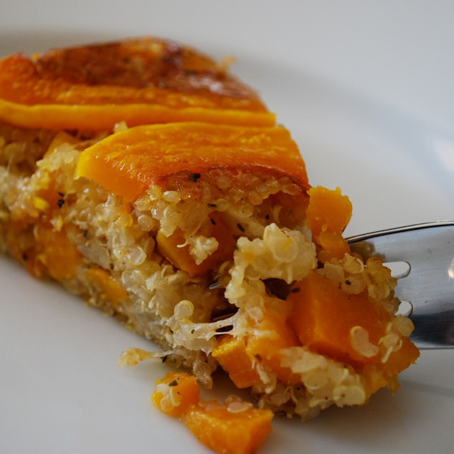 squash and quinoa pie