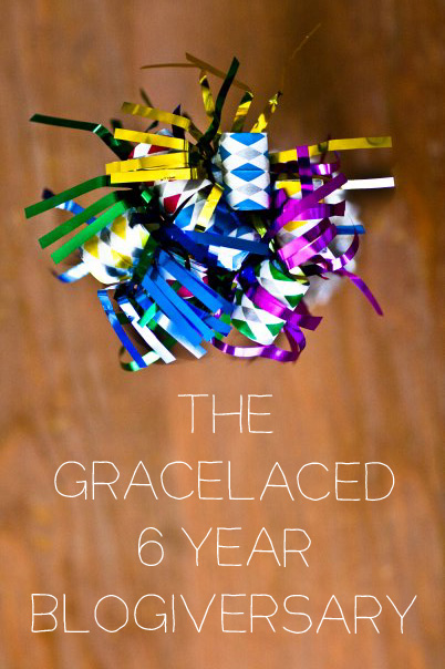 6 Year Blogiversary at GraceLaced + Mega Giveaway!