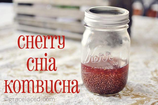Cherry Chia Kombucha