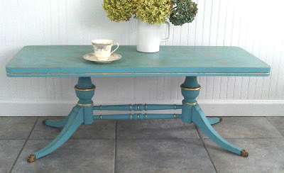 Provence blue Annie Sloan Chalk Paint dining table