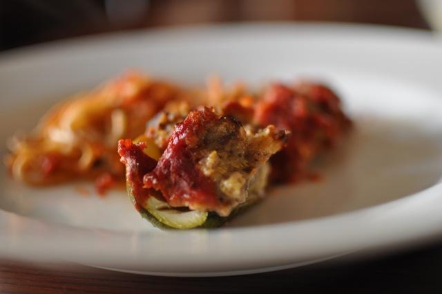 Stuffed Zucchini with Marinara