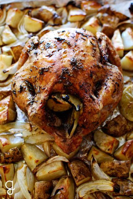 Roast Lemon-Herb Chicken & Potatoes