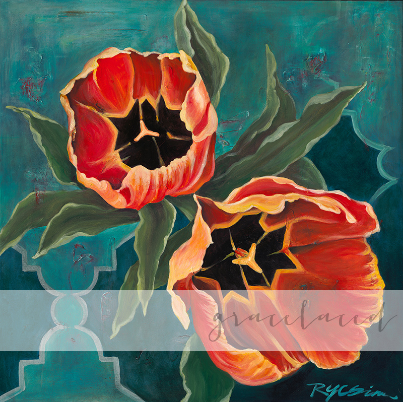 Tulips for Morocco Painting