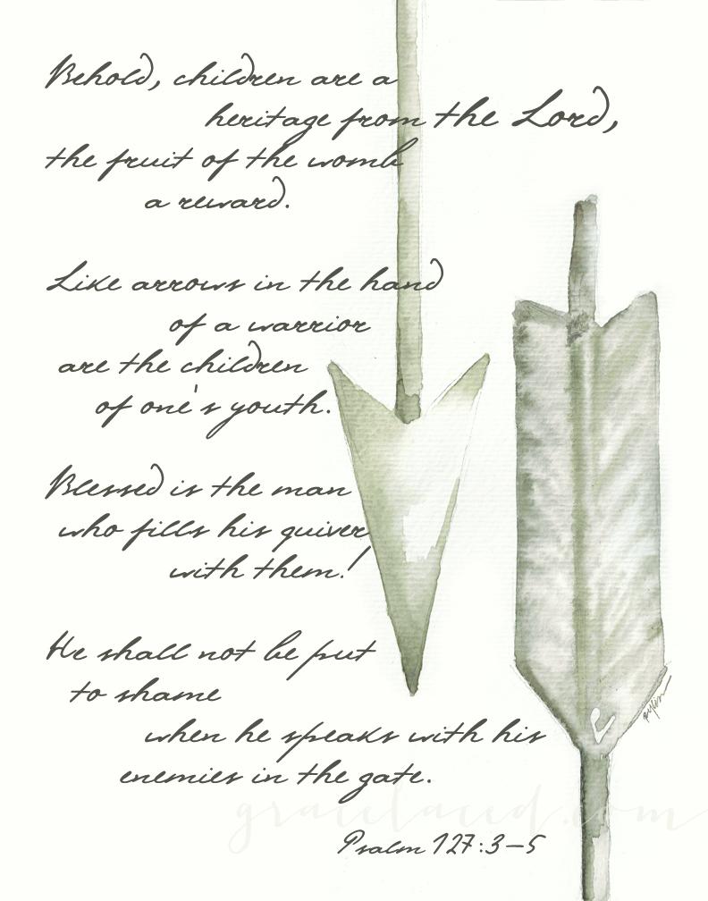 Grey Arrow Psalm 127