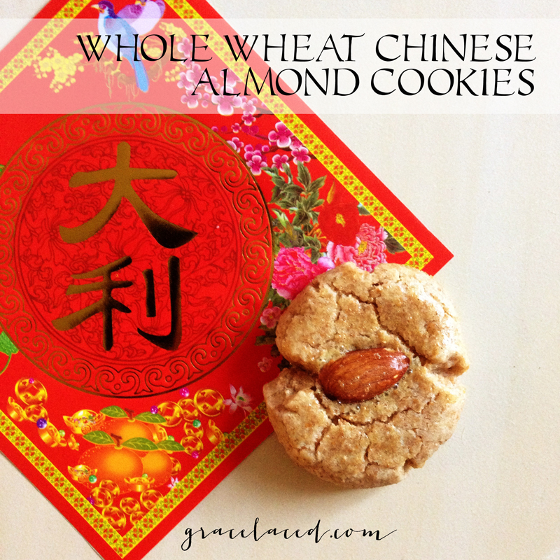 Whole Wheat Chinese Almond Cookies | gracelaced.com