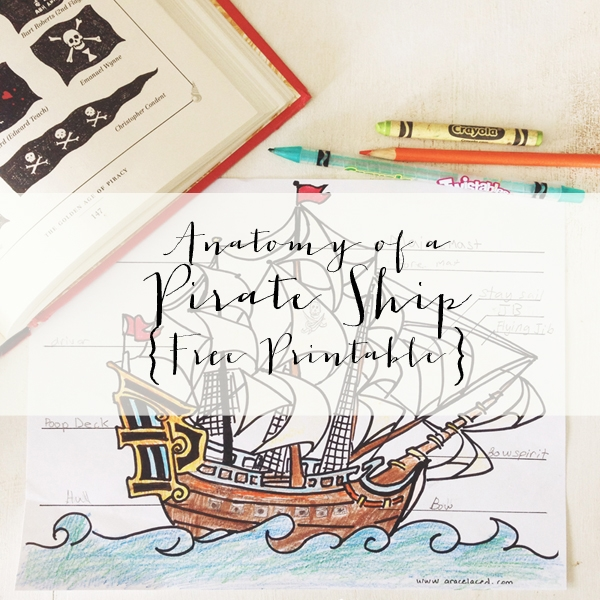 Anatomy Of A Pirate Ship Coloring Sheet {Free Download}