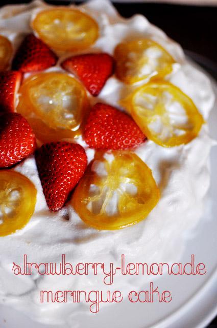 Strawberry-Lemonade Meringue Cake