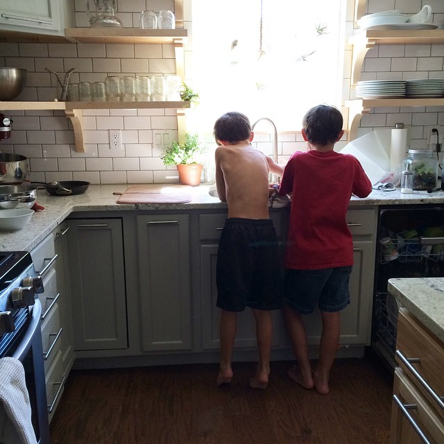 Boys in the kitchen | gracelaced.com