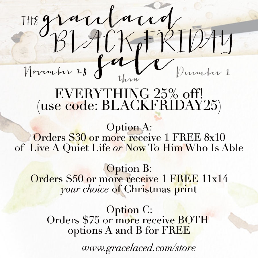 GraceLaced Black Friday Sale