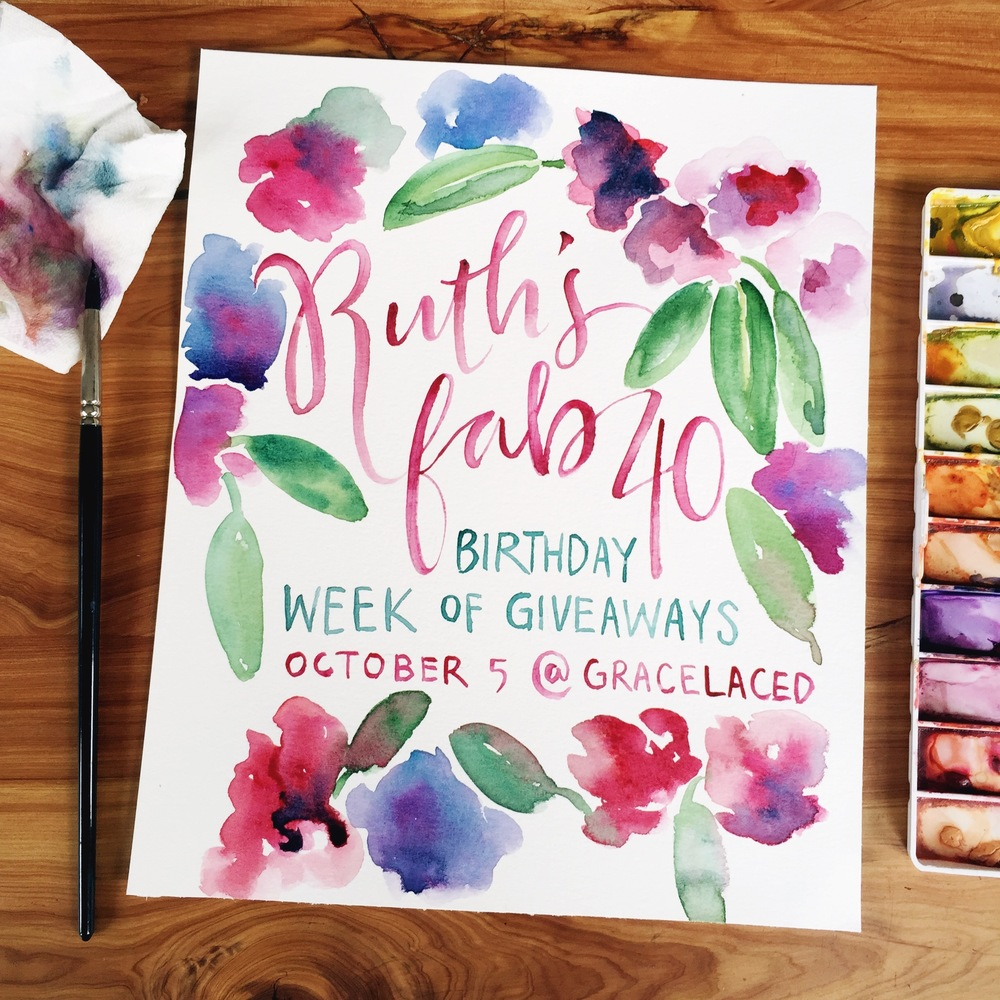 Ruth's Fab 40 Week of Giveaways | gracelaced.com