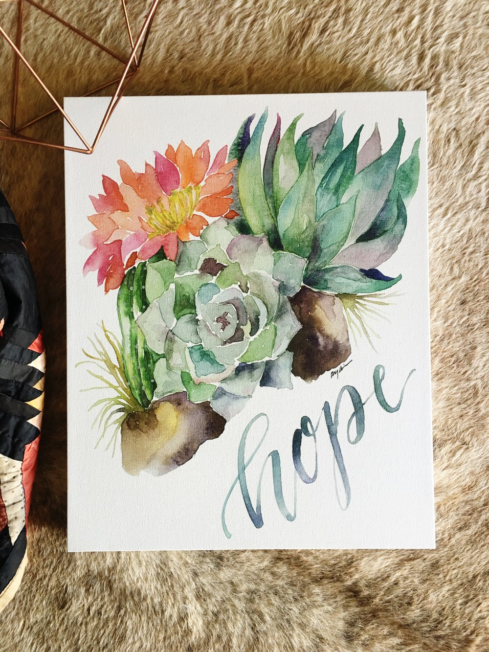 "Hope In The Desert Canvas: ""Desert Hope"""