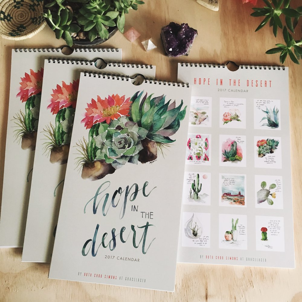 Hope In The Desert 2017 Calendar 4-pack Bundle | gracelaced.com