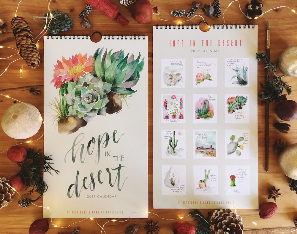 Hope In The Desert 2017 Calendar | gracelaced.com
