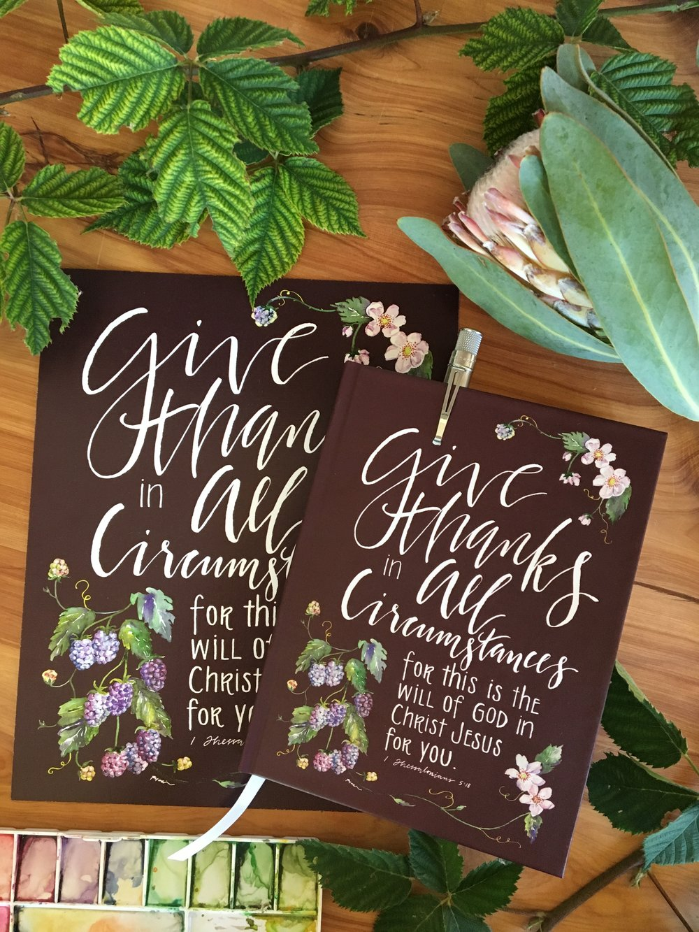 Give Thanks Print + Journal | gracelaced.com