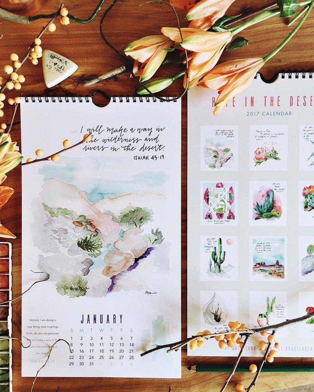 2017 Hope In The Desert Calendar | gracelaced.com