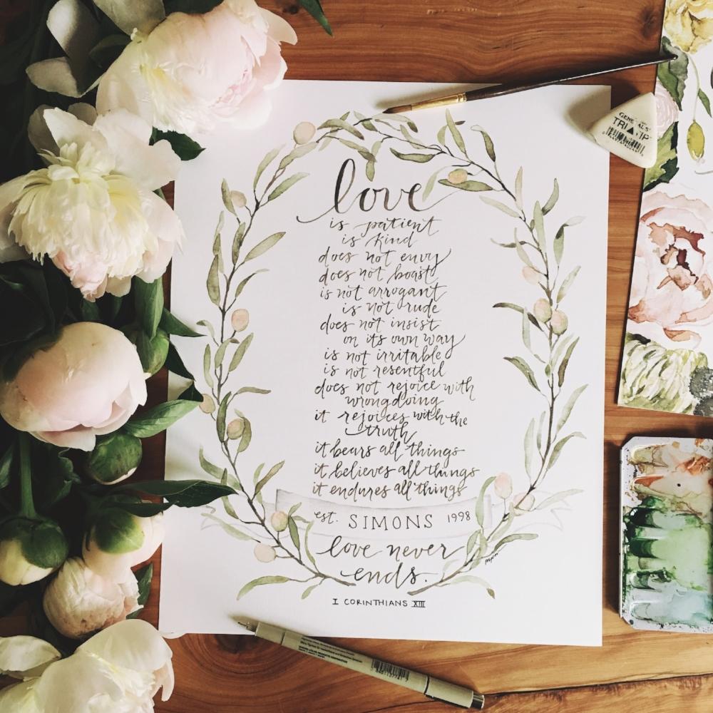1 Corinthians 13 Personalized | gracelaced.com