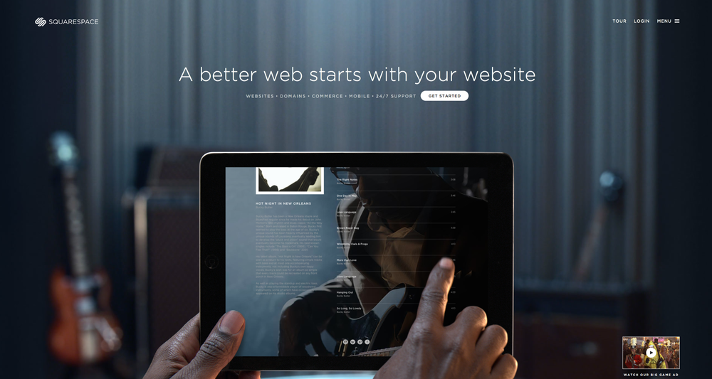 visit squarespace & contact us if we can help you with the design, the concept  & programming.