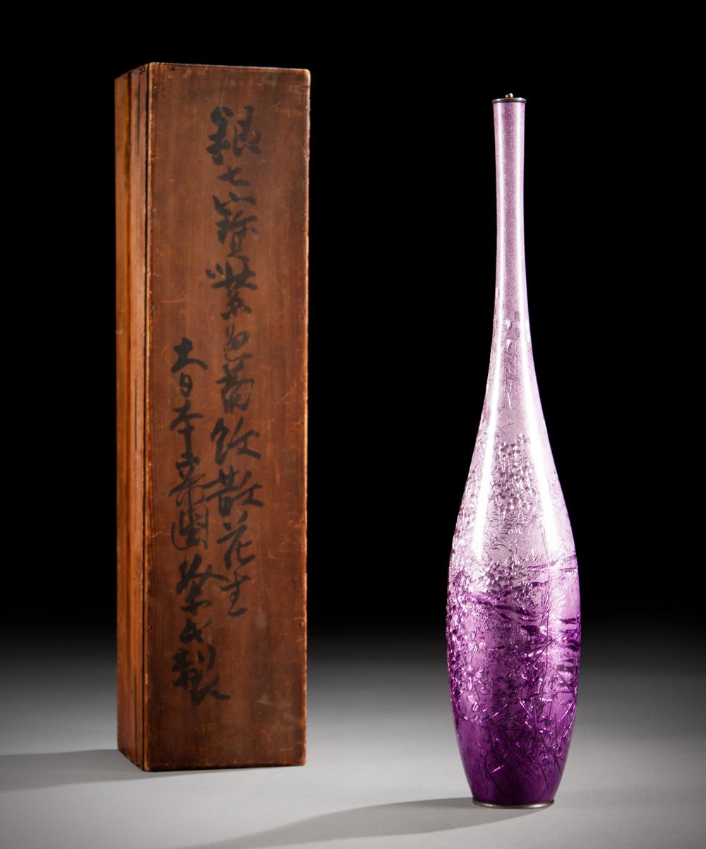 Japanese Ginbari Cloisonne Vase