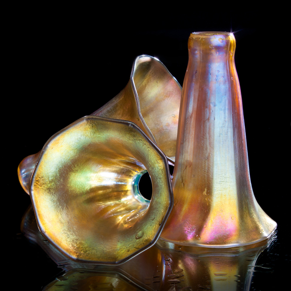 Tiffany Favrile Glass Lily-Form Shades