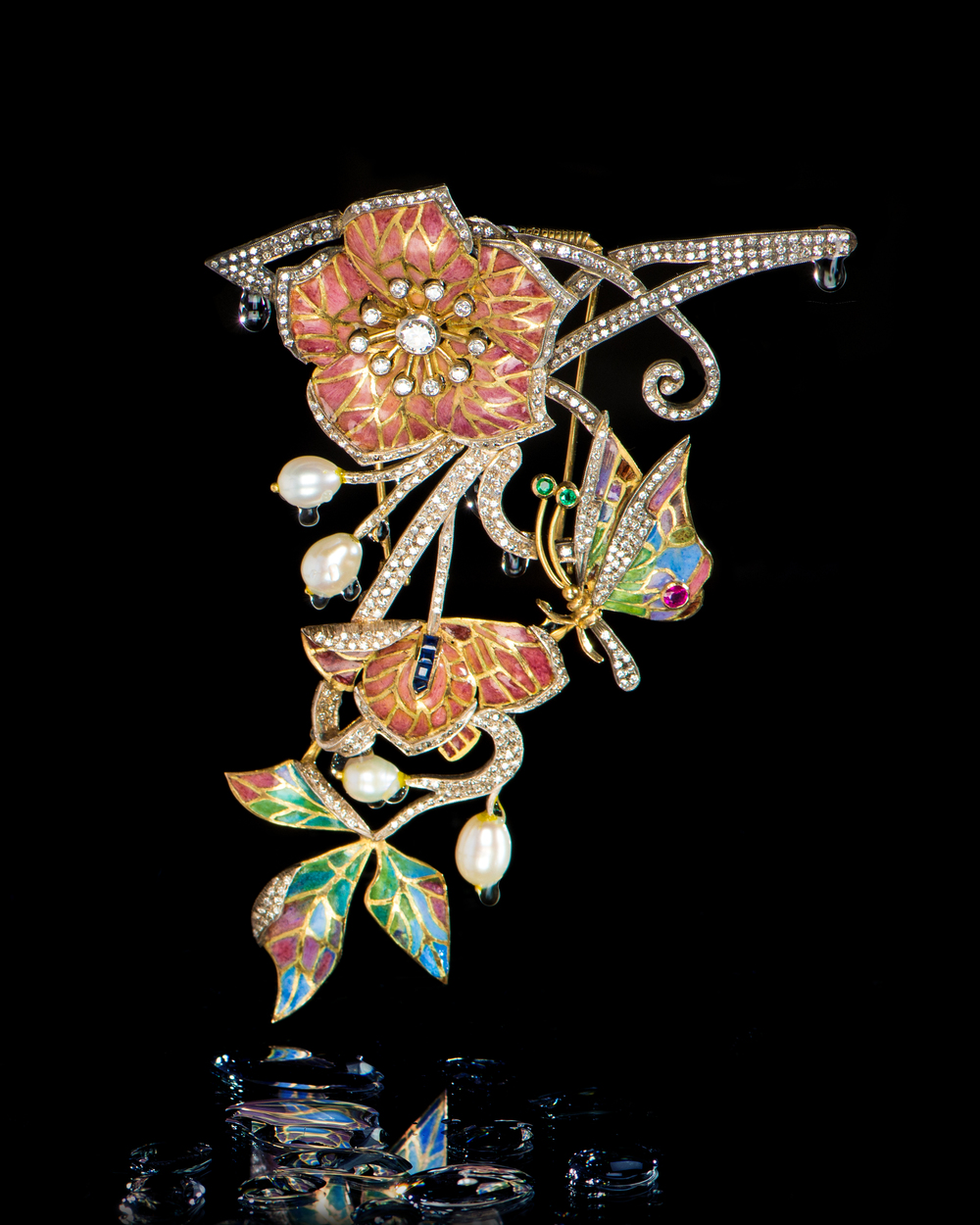 Art Nouveau Figural Brooch