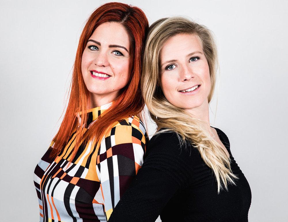 Malin Larsson och Sofie Henningsson, grundare av Kahlo AB
