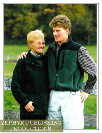 JONATHAN KISER; STEEPLECHASE CHAMPION with mom Dottie Kiser, Hunting Ground Farm in Harford County Maryland USA