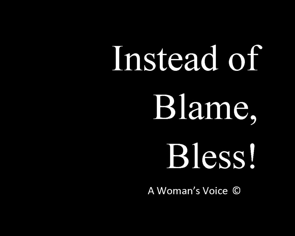 Instead of Blame, Bless.jpg
