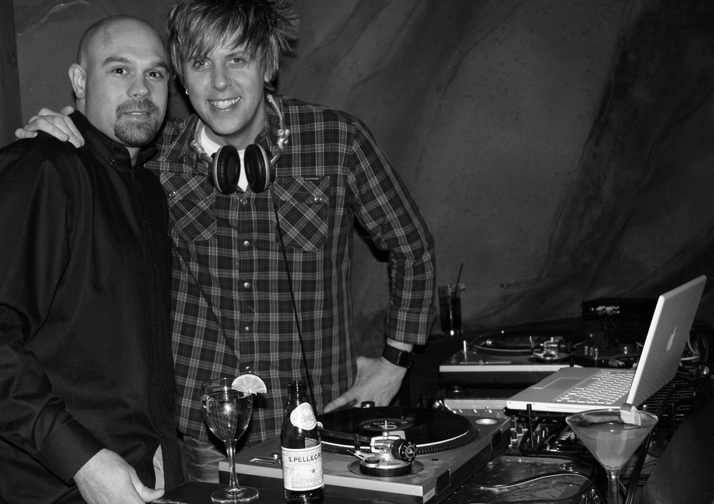 Adam Decaria and Christian-B DJing an A-list party at the W Hotel - Beverly Hills. © Sean Casey