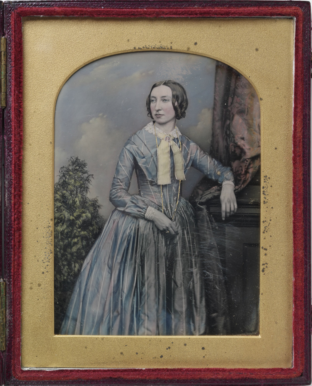 In living color the art of the hand painted daguerreotype for Hand painted portraits from photos
