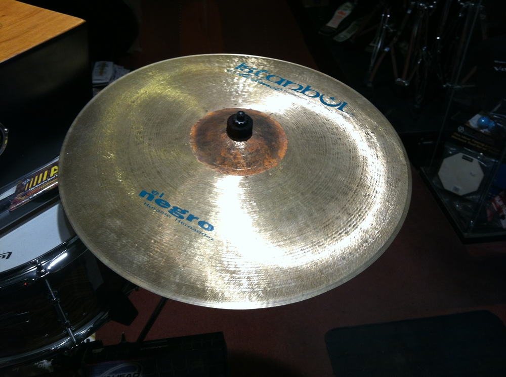 "Istanbul Mehmet manufactured ""El Negro"" custom cymbals designed by drummer Horacio Hernandez."