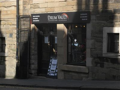 The Drum Vault's Candlemaker Row shopfront.