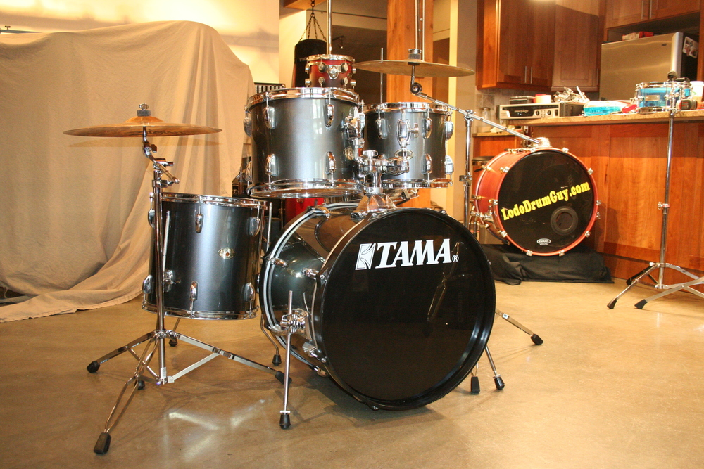 the denver downbeat used starter drums 5 pc tama swingstar for an 8 year old girl. Black Bedroom Furniture Sets. Home Design Ideas