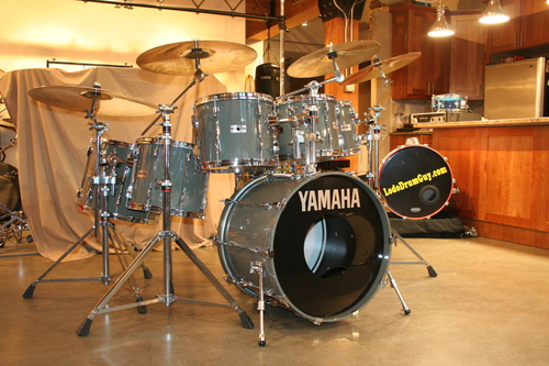 Gold vintage yamaha drums