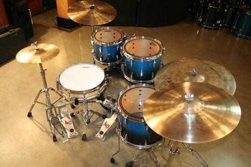 b1c71d91b4b0 Drum Kits-Pearl SESSION CUSTOM drum set MAPLE Sabian HHX AXIS BLUE ...