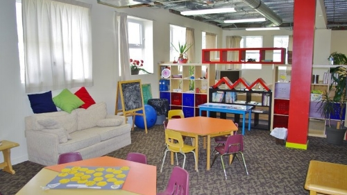kidz zone - This bright and cheerful room with adjoining bathroom is a suitable activity room for a group of young children.