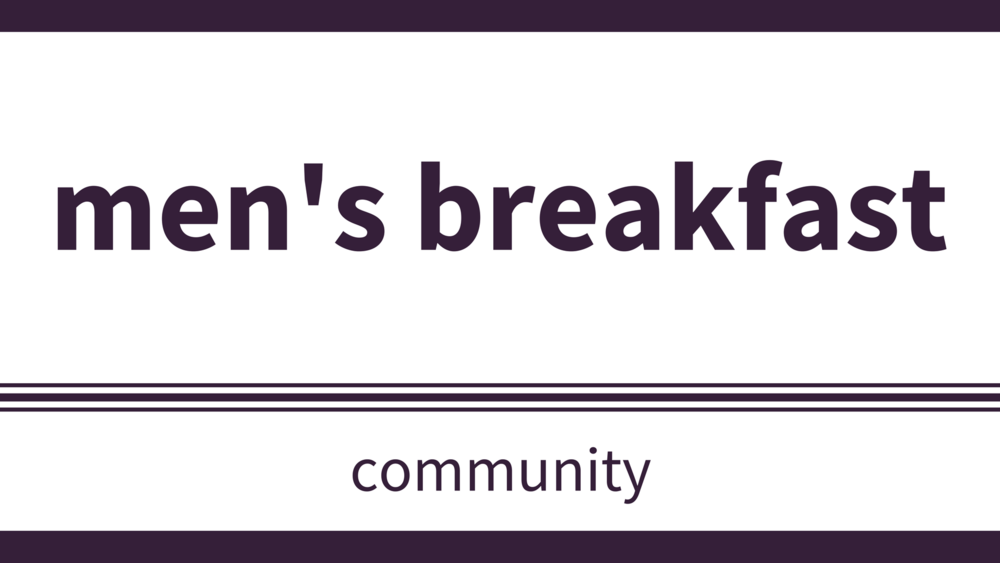 saturday, october 6 at 9am - Location: Multipurpose RoomRDLUC Men are invited to a morning of conversation and fellowship over breakfast. Sign-up or contact the office, if you would like to attend. Kitchen help is always appreciated starting at 8:15am.Topic: TBD