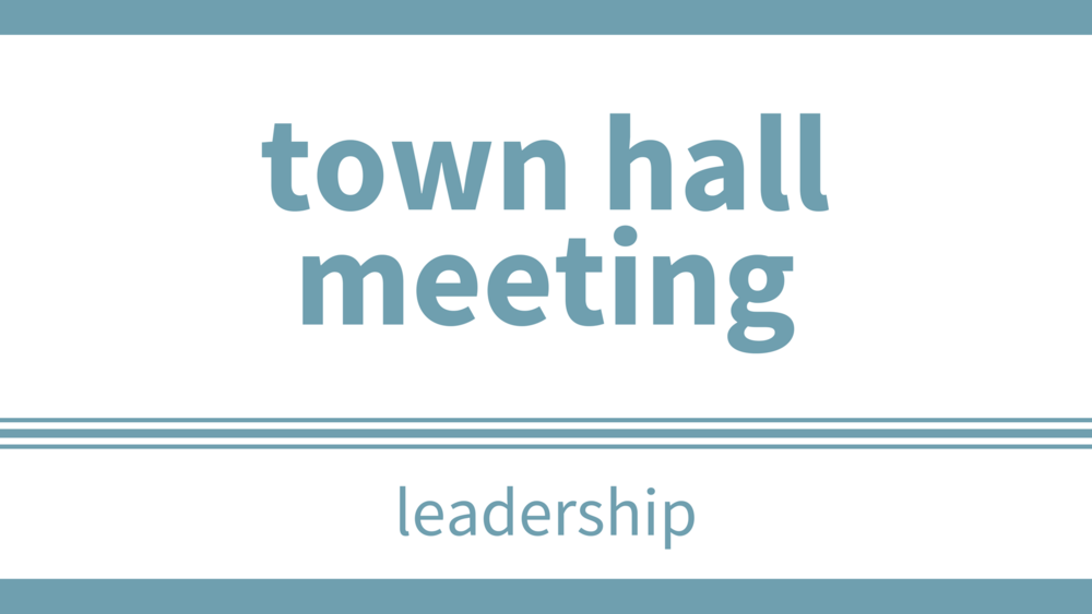 sunday, november 5 at 12pm - Location: SanctuaryPlease join us for a Town Hall Meeting to share information.  We will bring you up to date on what is happening in the church and would be happy to hear your comments and questions.