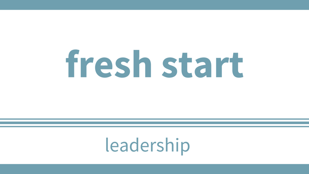 sunday, january 14 at 12pm - Location: Multipurpose RoomThe Fresh Start Program is available to congregations to help in many areas of church. We are happy to have Tom Melvin lead us through one of the sessions. Board Members, Staff, and Team leaders are invited to come out and learn together.