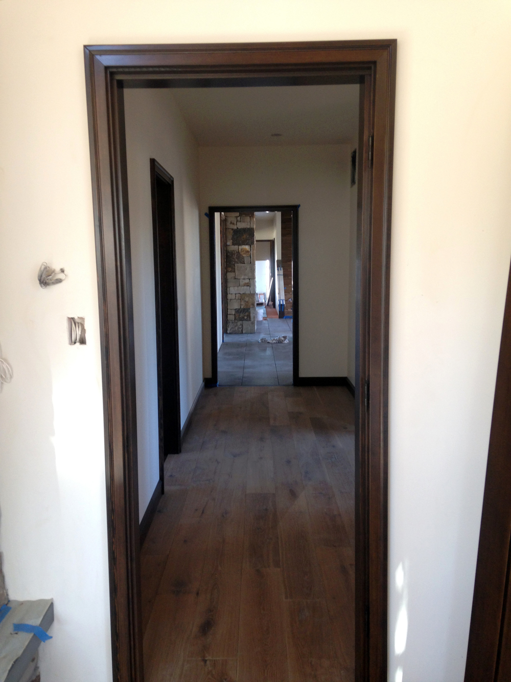 drw deschutes residence interior hallway fireplace.JPG
