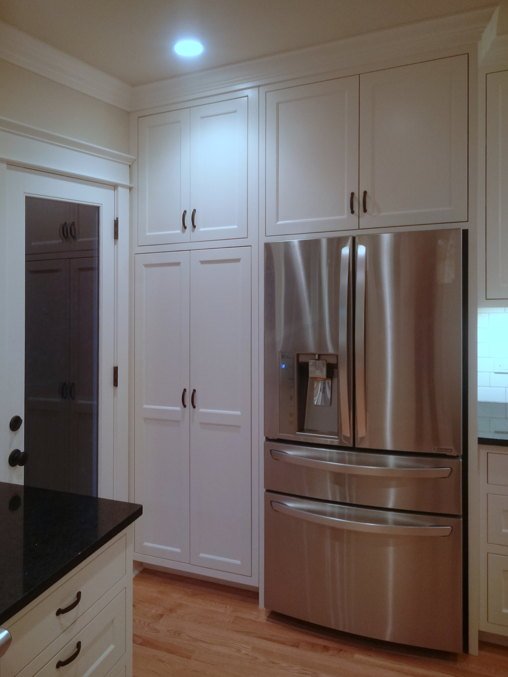 Pantry Cabinet and Refrigerator