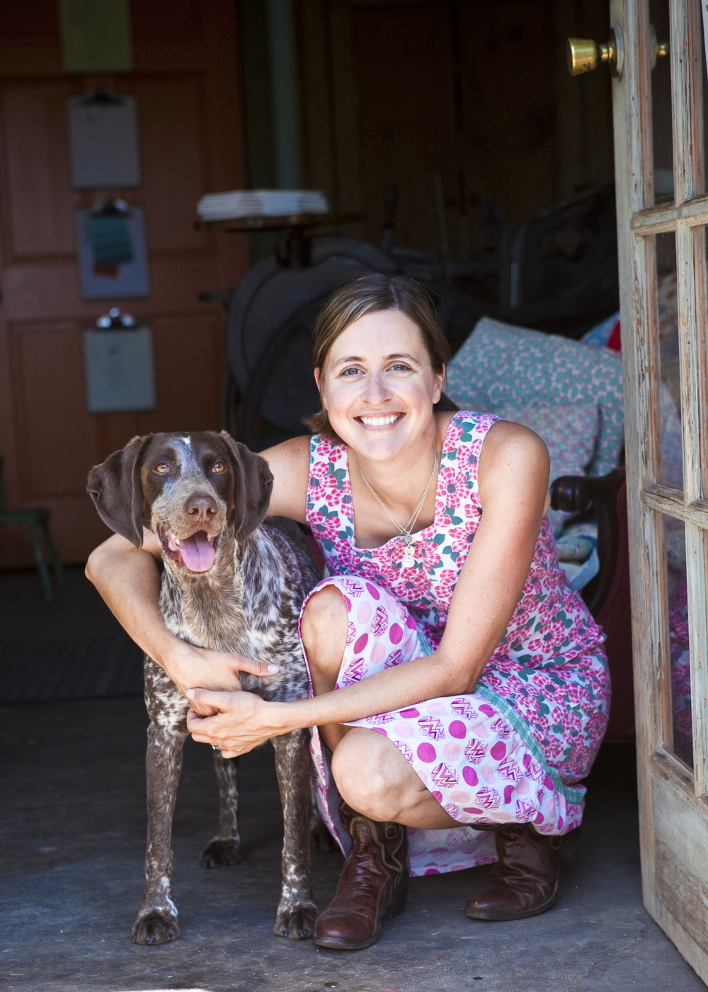 "Allison Bozeman & ""Siler"" - THE Bird Dog, photo by Julia Vandenoever"