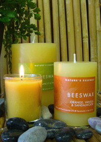 Beeswax Collection Our Beeswax Collection features a buttery beeswax blend which burns even and clean and has a light fragrance in itself. Add to this nine complementary scents and you have a delight. The Beeswax collection comes in pillars, candle tins.