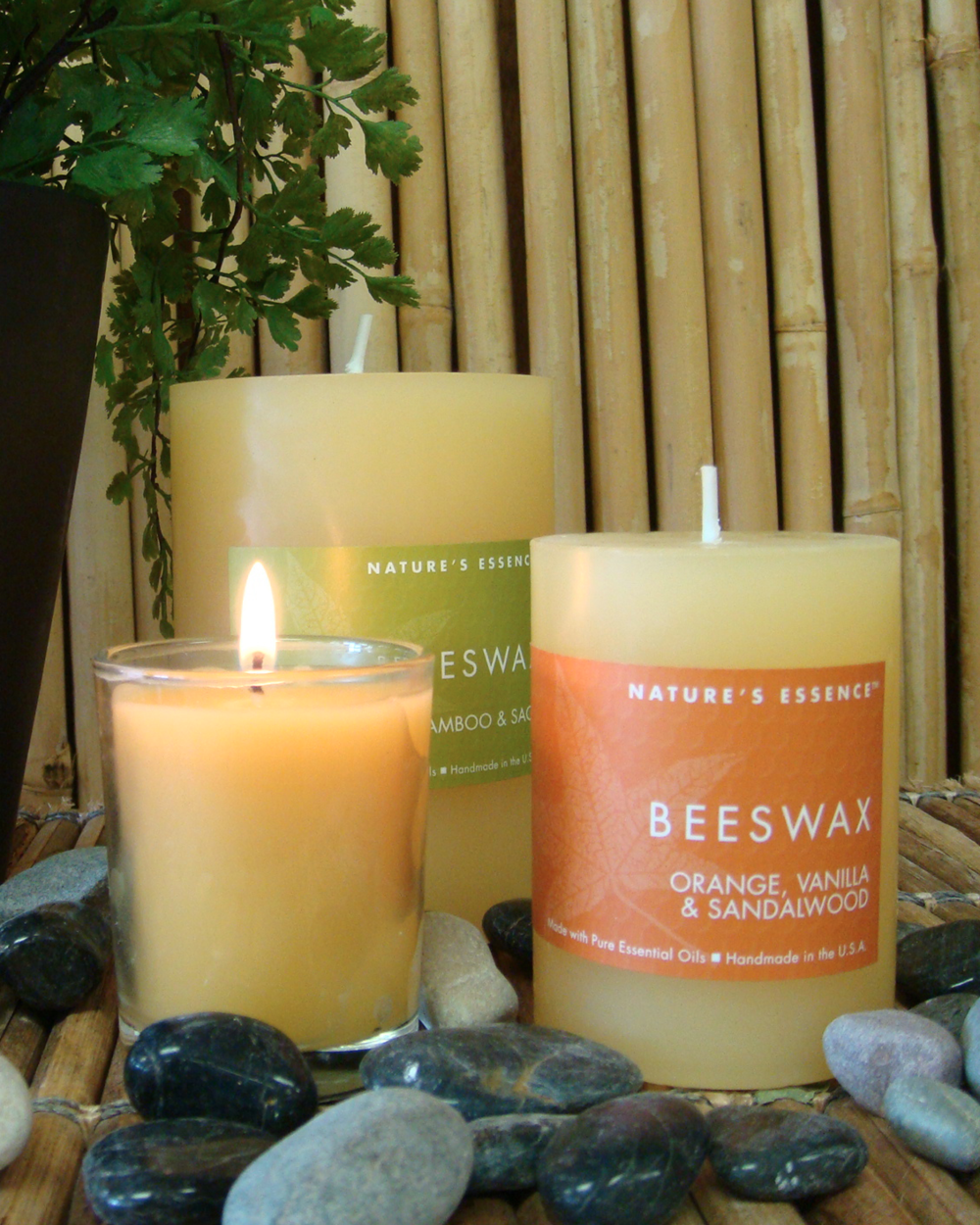 Beeswax Collection    Our Beeswax Collection features a buttery beeswax blend which burns even and clean and has a light fragrance in itself. Add to this nine complementary scents and you have a delight. The Beeswax collection comes in pillars, candle tins