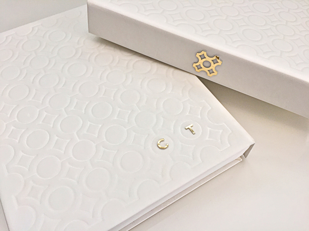luxury box hot stamped white invitation event corporate