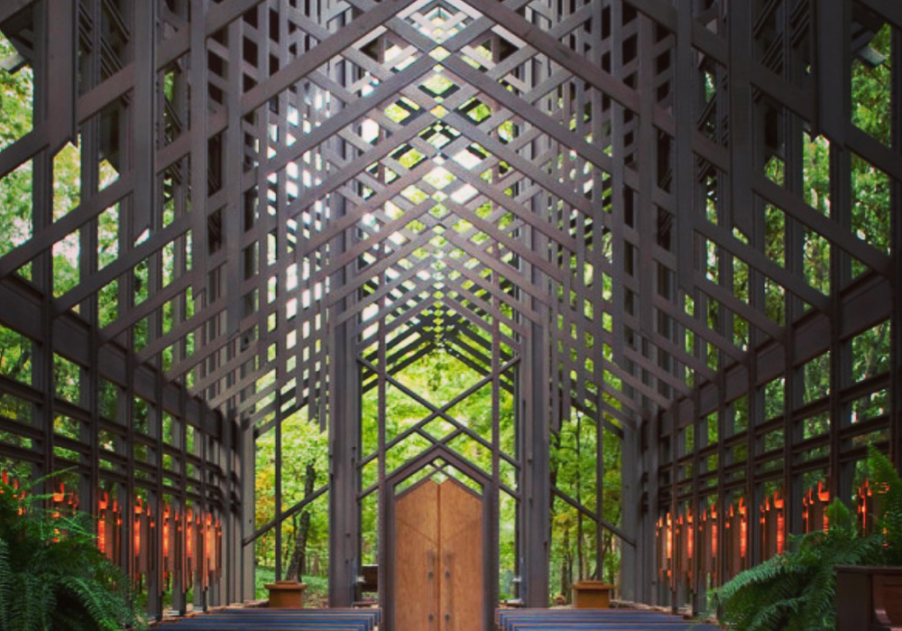 Thorncrown Chapel, Ozark Mountains by E. Fay Jones