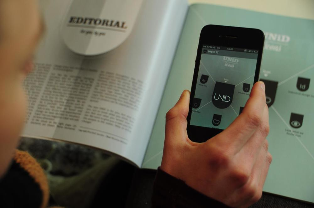 At UNiD magazine, we experimented with interactive content via Layar