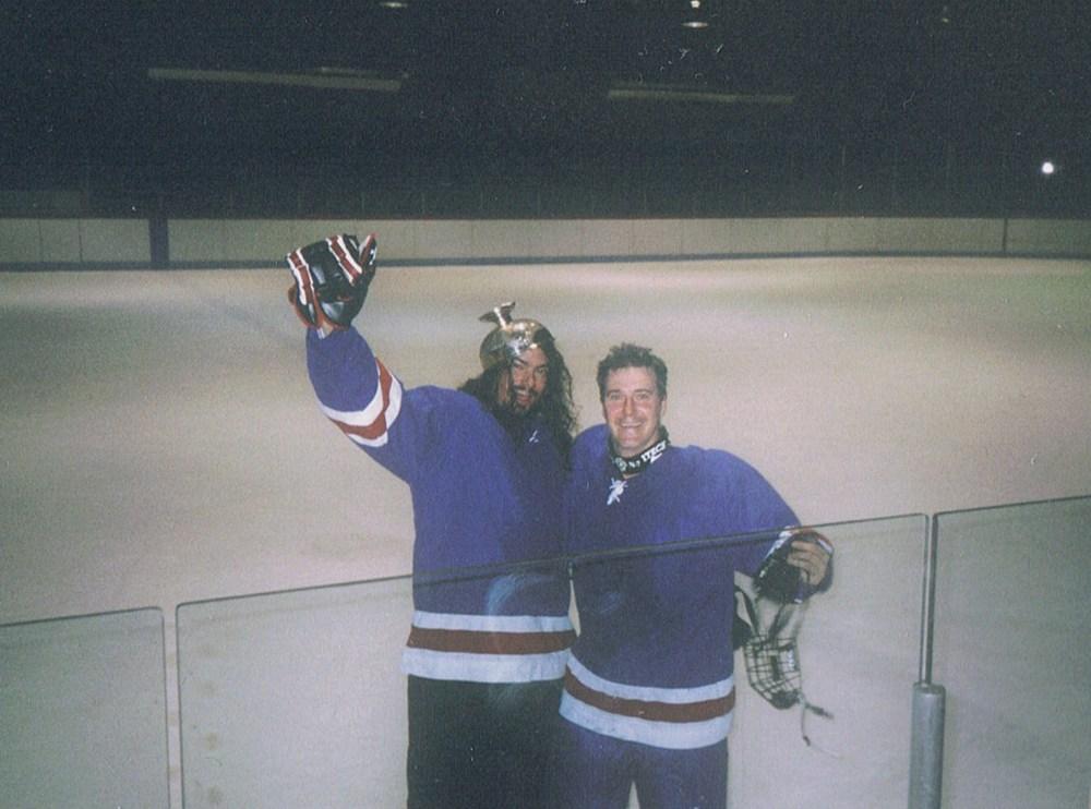 Avec Steve dans la cathédrale sportive que nous avons contribués à sauver