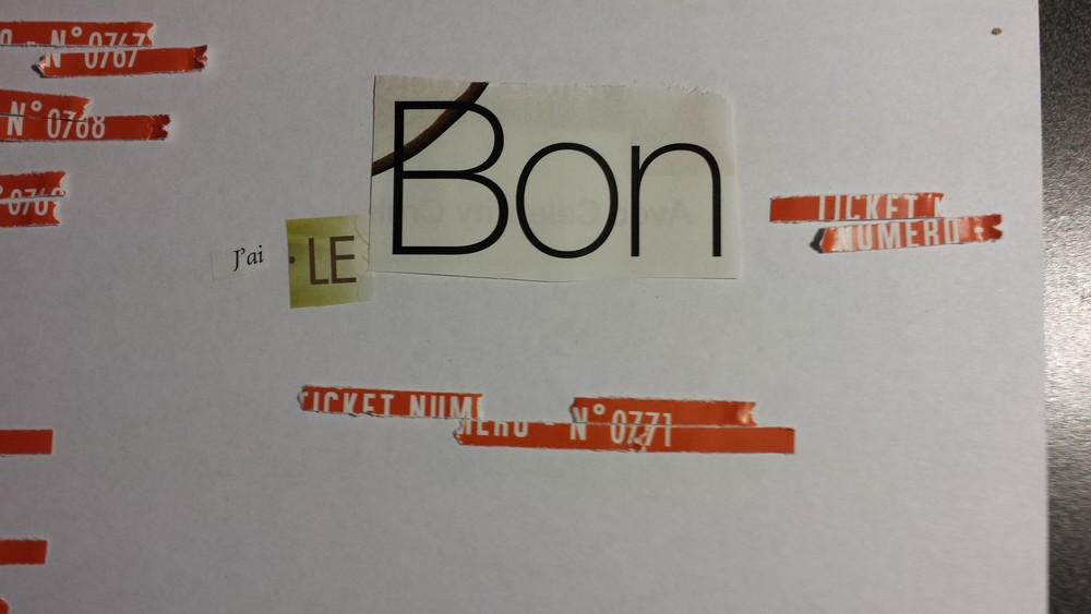 Le billets gagnant de Benoit recomposé
