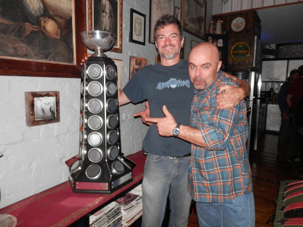 JFD & Eric Drapeau co-créateur de la coupe LFA lors du BBQ pre-saison