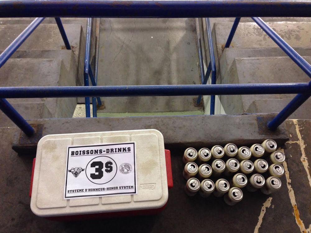 Le système d'honneur également offert dans les estrades cette saison (Photo Michaele Wees)